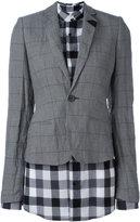 A.F.Vandevorst layer fitted blazer - women - Cotton/Polyester/metal - 40