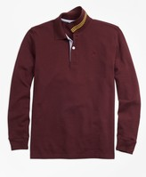 Brooks Brothers Long-Sleeve Cotton Pique Polo Shirt