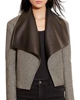 Lauren Ralph Lauren Glen Plaid Mixed Media Jacket