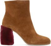 Miu Miu Tan Suede & Shearling Boots