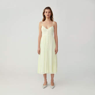 Fame & Partners Button Down Strappy Dress