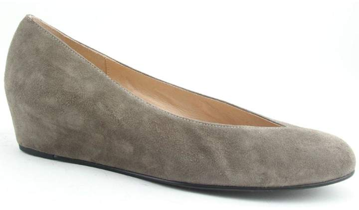 French Sole Cubic Suede Wedge