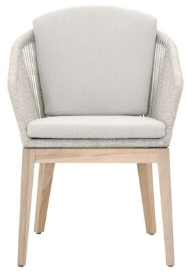 Bungalow Rose Bouley Teak Patio Dining Chair (Set of 2