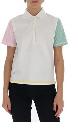 Thom Browne Colour-Block Sleeve Polo Shirt
