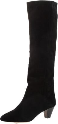 Isabel Marant Black Suede Knee Length Boots Size 36