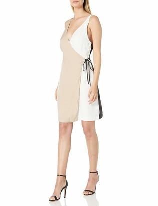 MinkPink Women's Colour Block Wrap Dress