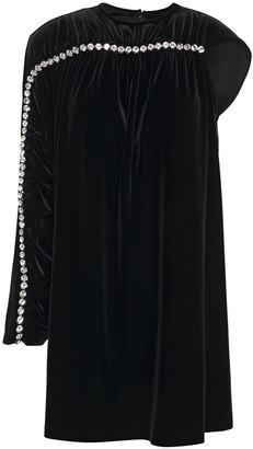 Christopher Kane Crystal-embellished Velvet Mini Dress