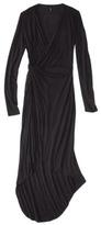 labworks Petites Long-Sleeve Wrap Dress - Black