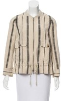 Tory Burch Striped Silk-Blend Jacket