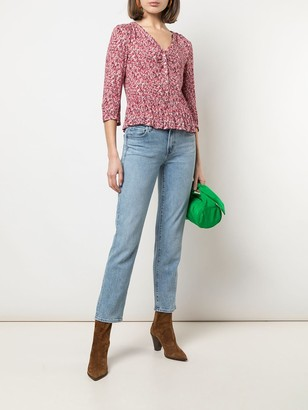 BA&SH floral three-quarter sleeve top