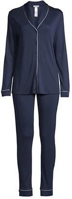 Hanro Natural Comfort 2-Piece Long Pajama Set