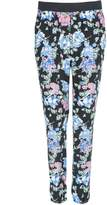Select Fashion Fashion Womens Black Floral Bloom Print Trousers - size 10