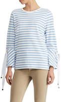 Lauren Ralph Lauren Striped Jersey Bell-Sleeve Top