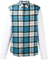 J.W.Anderson panelled checked shirt - men - Cotton/Polyamide/Polyurethane/Viscose - 46