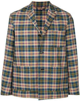 Caban Plaid Shirt Jacket