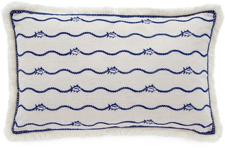 Southern Tide Bayside Embroidered Skipjack Throw Pillow