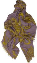 Etro Printed wool-blend scarf