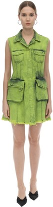 Marques Almeida Multi Pocket Cotton Denim Mini Dress