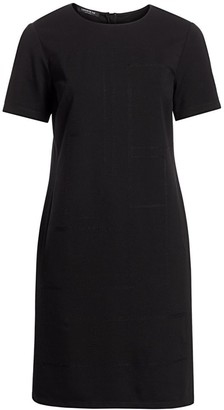 Lafayette 148 New York, Plus Size Jacintha Tonal Stitch Shift Dress