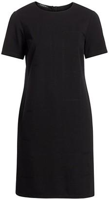 Lafayette 148 New York, Plus Size Jacintha Tonal Stitch Shift Dress