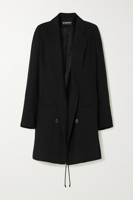 Ann Demeulemeester Double-breasted Lace-up Wool-twill Blazer - Black