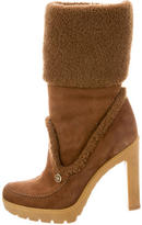 Christian Dior Shearling-Trimmed Boots