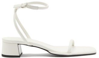 The Row Kate Ankle-strap Leather Sandals - White