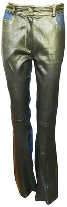 Jitrois Brown Leather Trousers