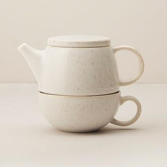 Indigo Willow Luster Ceramic Tea For One