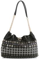 Sonia Rykiel eyelet embellished shoulder bag - women - Leather/Metal (Other) - One Size
