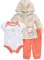 First Impressions Baby Set, Baby Girls 3-Piece Hoodie, Bodysuit and Pant Set