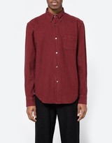 Our Legacy 1950s Shirt Burgundy HA Oxford