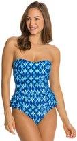 Jessica Simpson Navajo Peplum One Piece Swimsuit 8124020