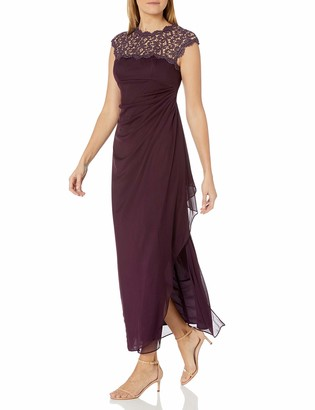 Alex Evenings Women's Metallic Cutout Lace Dress (Petite and Regular Sizes)
