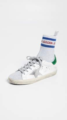 Golden Goose Supserstar Metallic Socks Sneakers