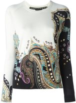 Etro abstract print pullover - women - Silk/Cashmere - 44