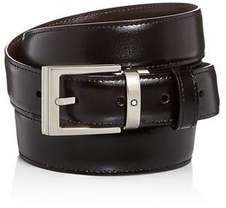 Montblanc Men's Palladium Square Buckle Reversible Leather Belt