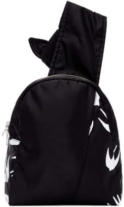 McQ Black Knotted Swallow Sling Backpack