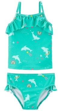 Carter's Little Girls Dolphin Tankini, 2 Piece