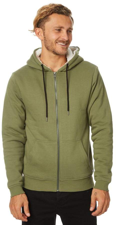 Swell Drifter Sherpa Zip Hood Green