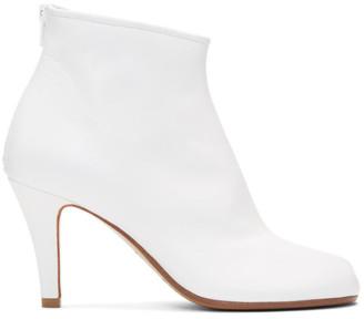 Maison Margiela White Stiletto Tabi Boots
