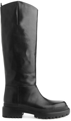 Arket High-Shaft Chunky Leather Boots