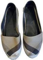 Burberry Beige Cloth Espadrilles