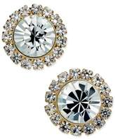 Charter Club Gold-Tone Crystal Button Earrings, Created for Macy's