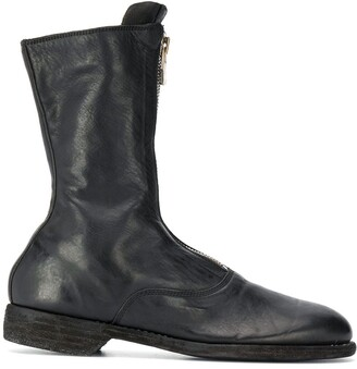 Guidi Zip-Front Leather Boots