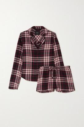 Rails Kellen Checked Flannel Pajama Set - Pink