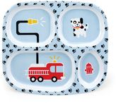 Bumkins Fire Engine Melamine Divided Plate in Blue