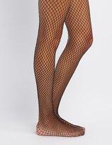 Charlotte Russe Shimmer Fishnet Tights