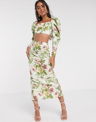 ASOS EDITION midi skirt in romantic floral print