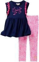 Juicy Couture Pompom Tunic & Legging Set (Little Girls)